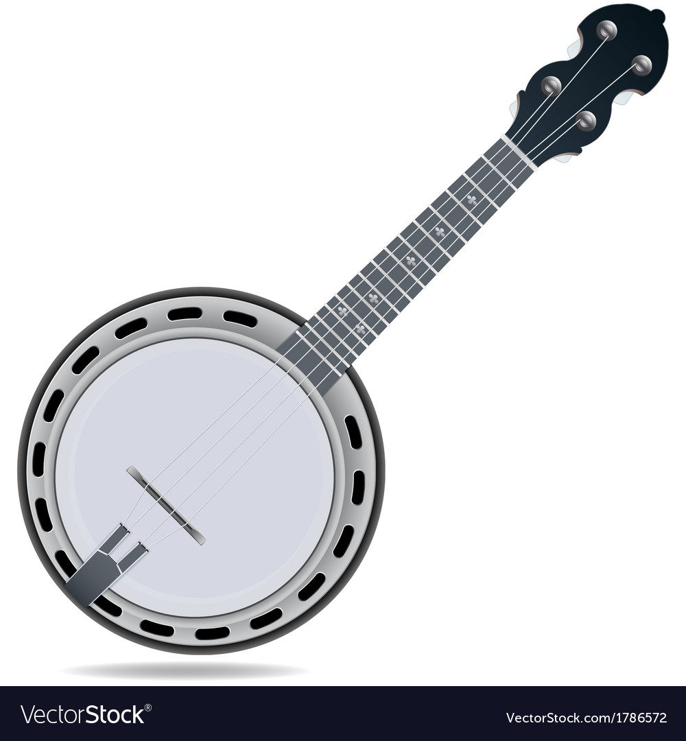 Banjo fiddle instrument vector | Price: 1 Credit (USD $1)