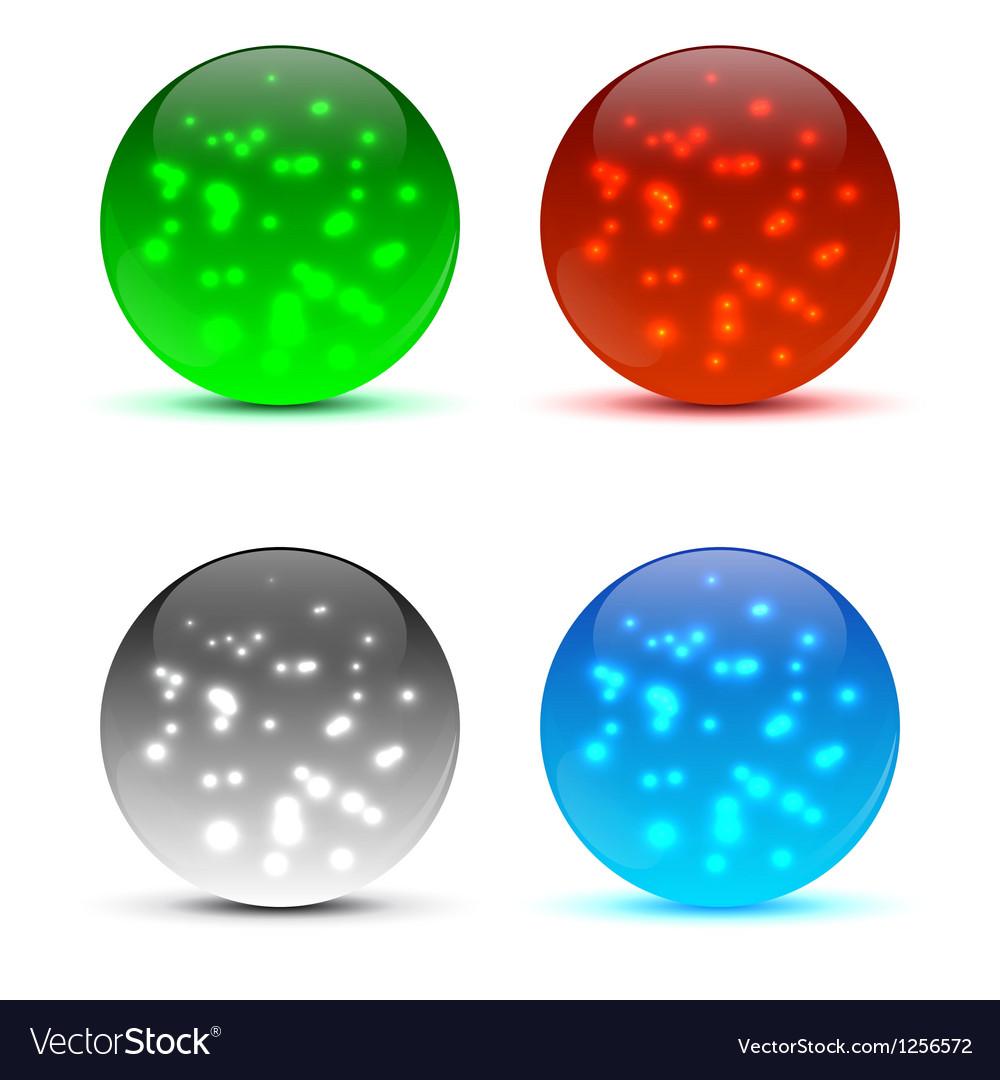 Bright colorful icon balls vector | Price: 1 Credit (USD $1)