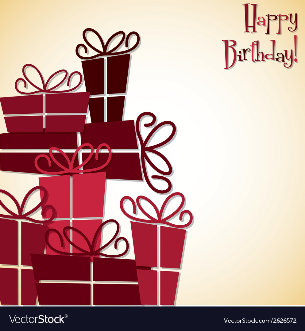 Bright stack of presents card in format vector   Price: 1 Credit (USD $1)