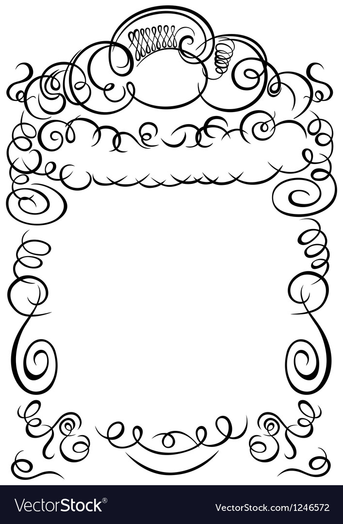 Frame calligraphy vector | Price: 1 Credit (USD $1)