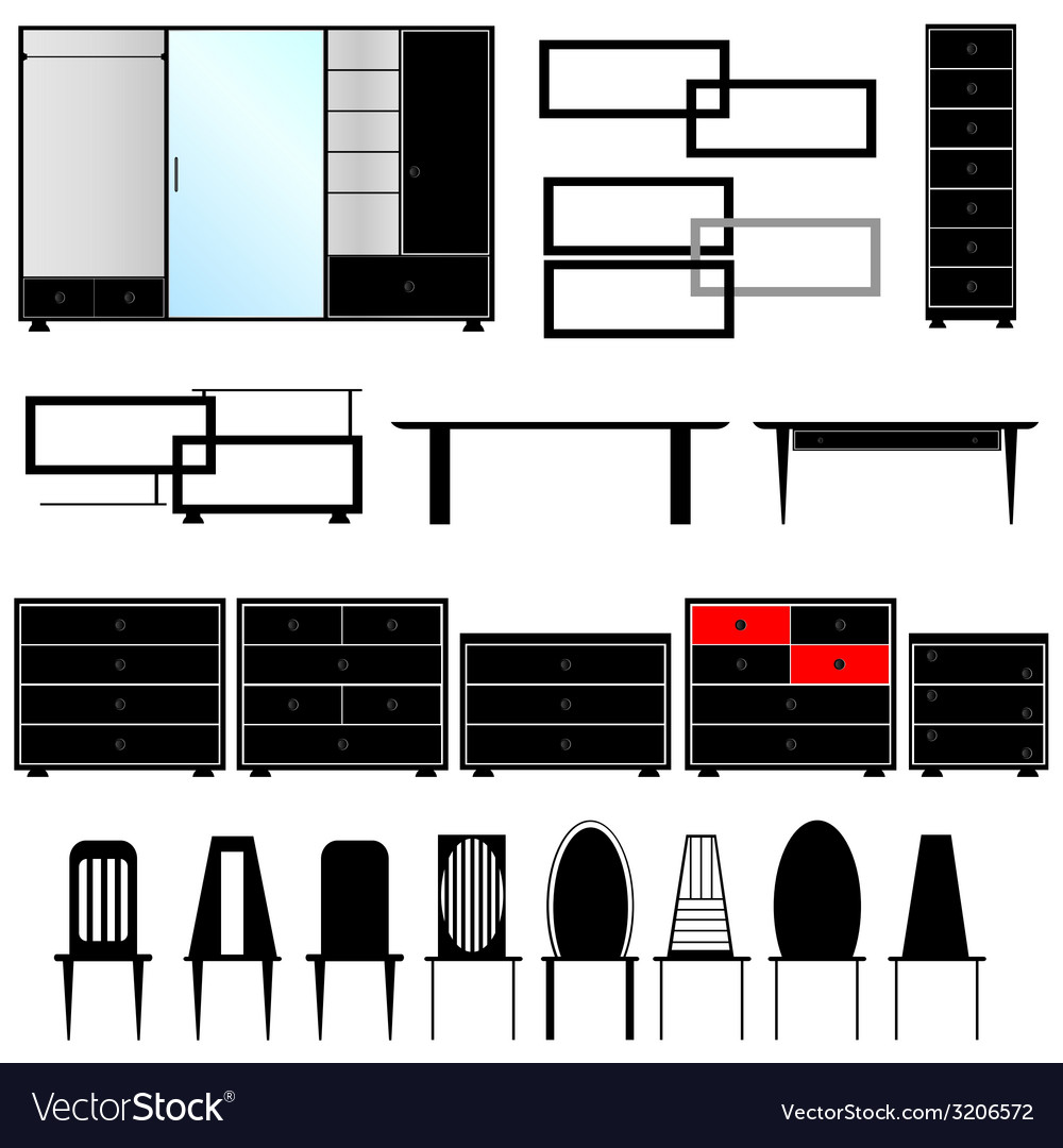 Furniture for the house vector | Price: 1 Credit (USD $1)