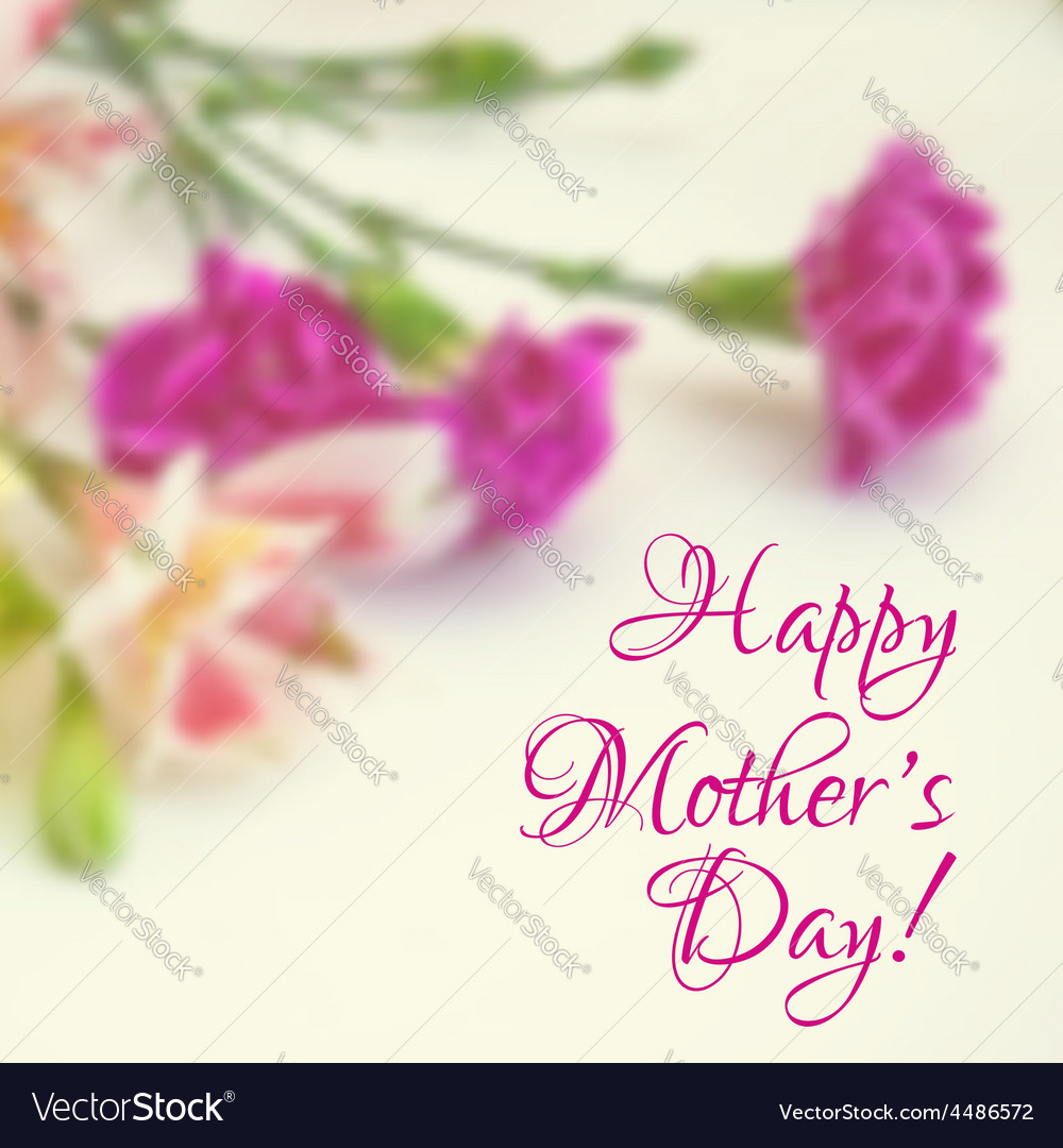 Happy mothers day greeting card vector | Price: 1 Credit (USD $1)