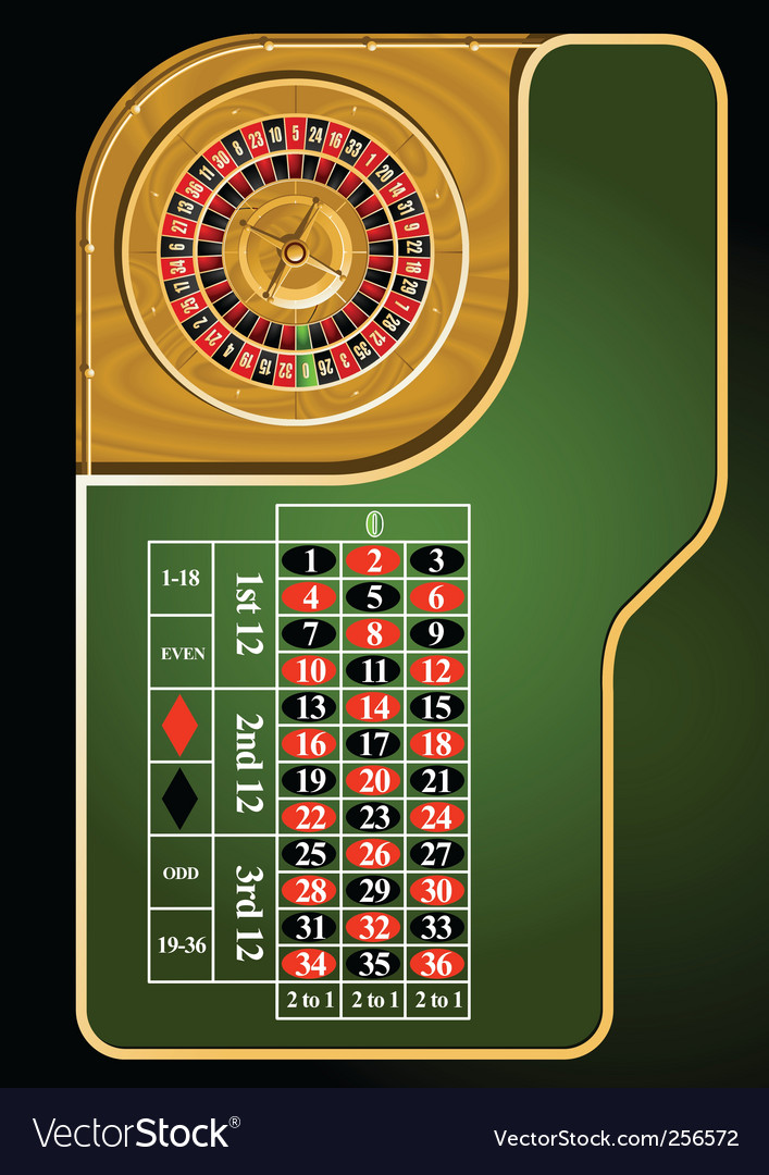 Roulette table layout vector | Price: 3 Credit (USD $3)