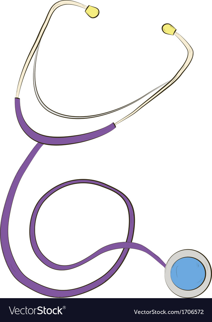 Stethoscope on white background vector | Price: 1 Credit (USD $1)