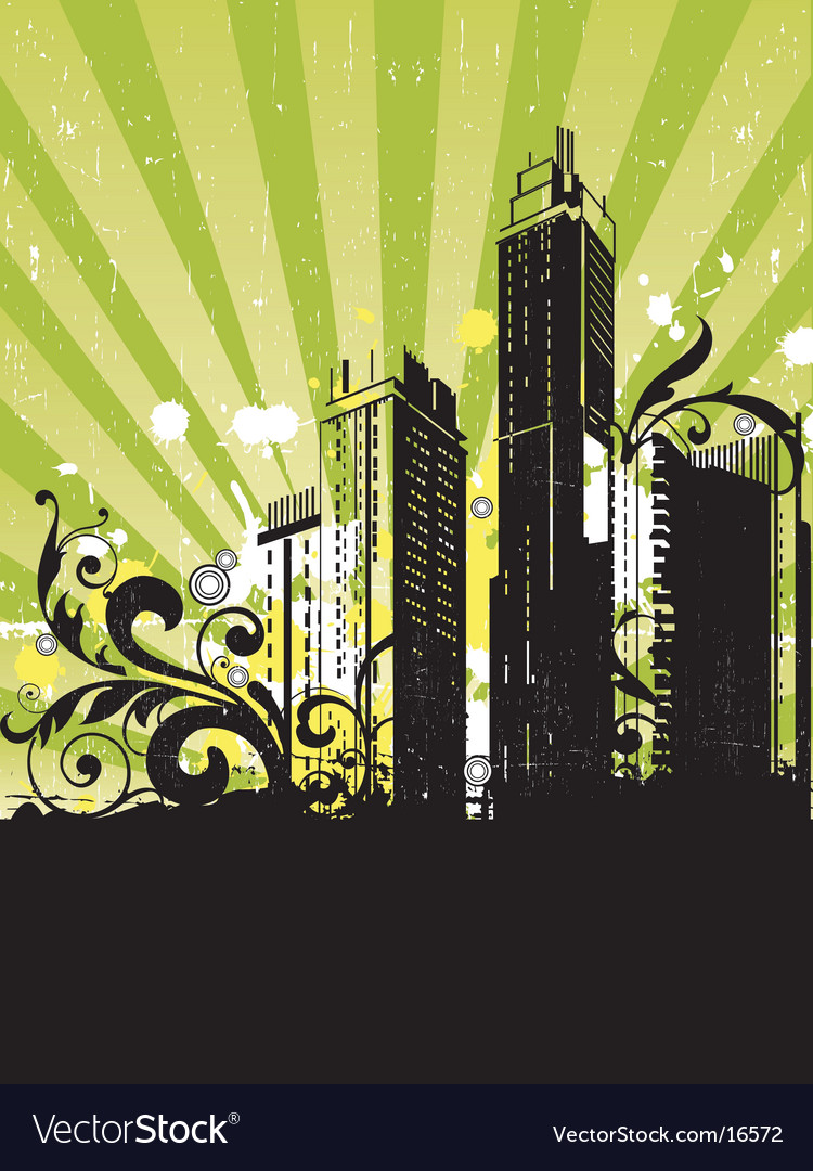 Urban grunge city vector | Price: 3 Credit (USD $3)