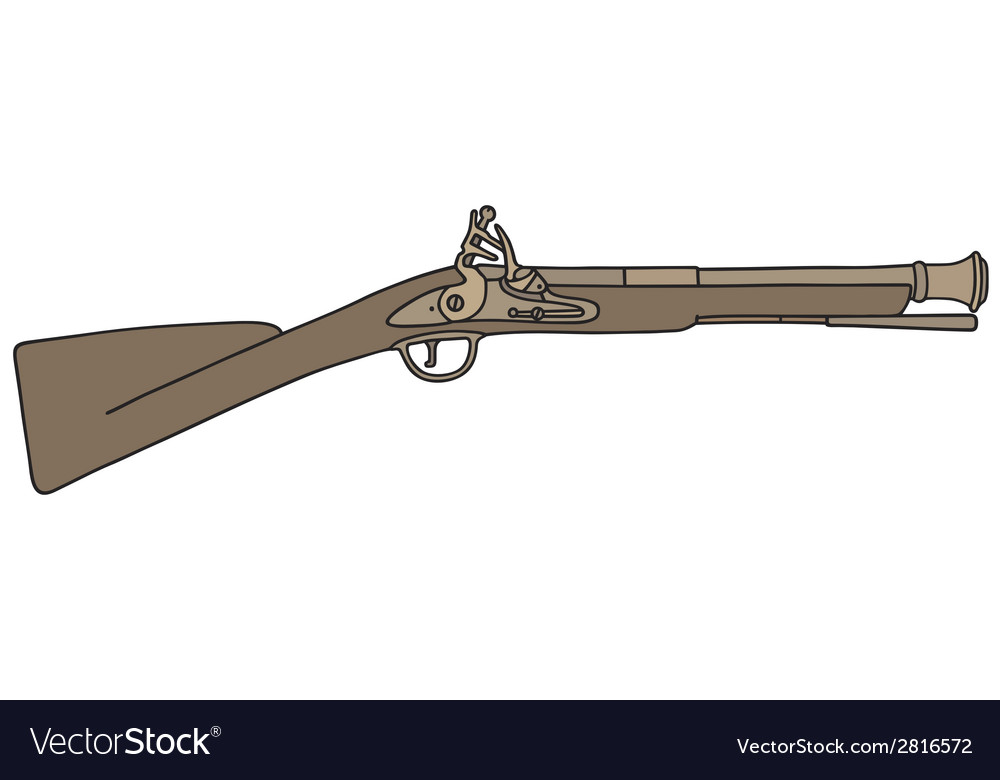 Vintage rifle vector | Price: 1 Credit (USD $1)
