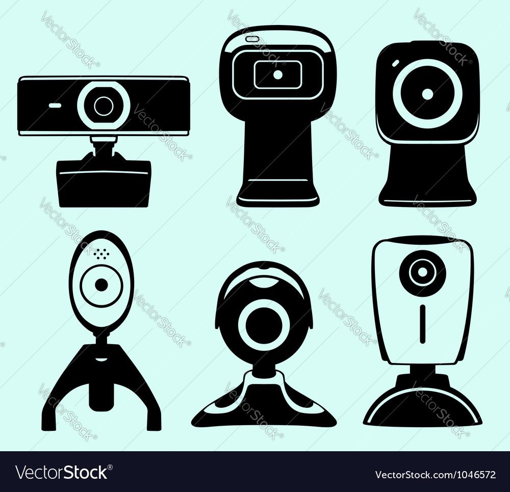 Web camera set vector