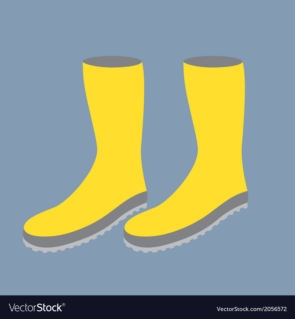 Yellow gum boots vector | Price: 1 Credit (USD $1)