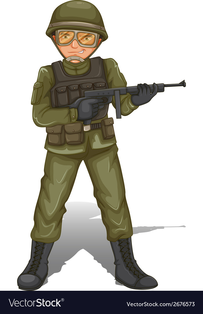 A brave military soldier vector | Price: 3 Credit (USD $3)