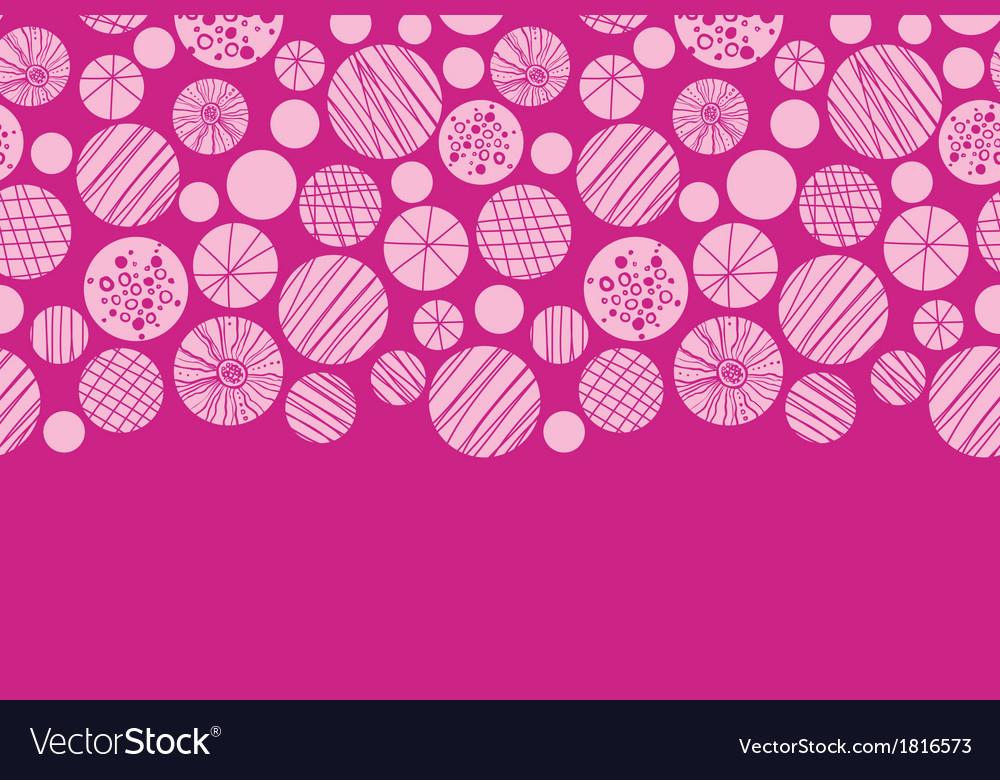 Abstract textured pink circles horizontal border vector | Price: 1 Credit (USD $1)