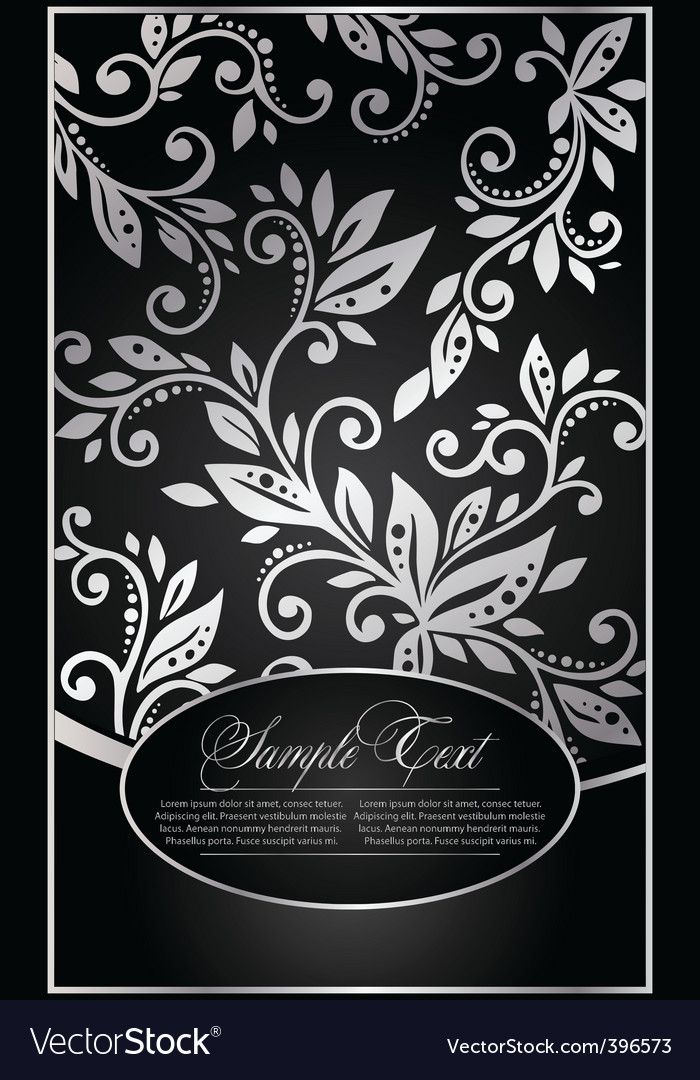 Background with the floral pattern vector | Price: 1 Credit (USD $1)