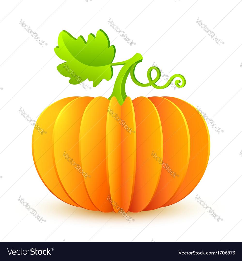 Bright halloween paper pumpkin vector   Price: 1 Credit (USD $1)