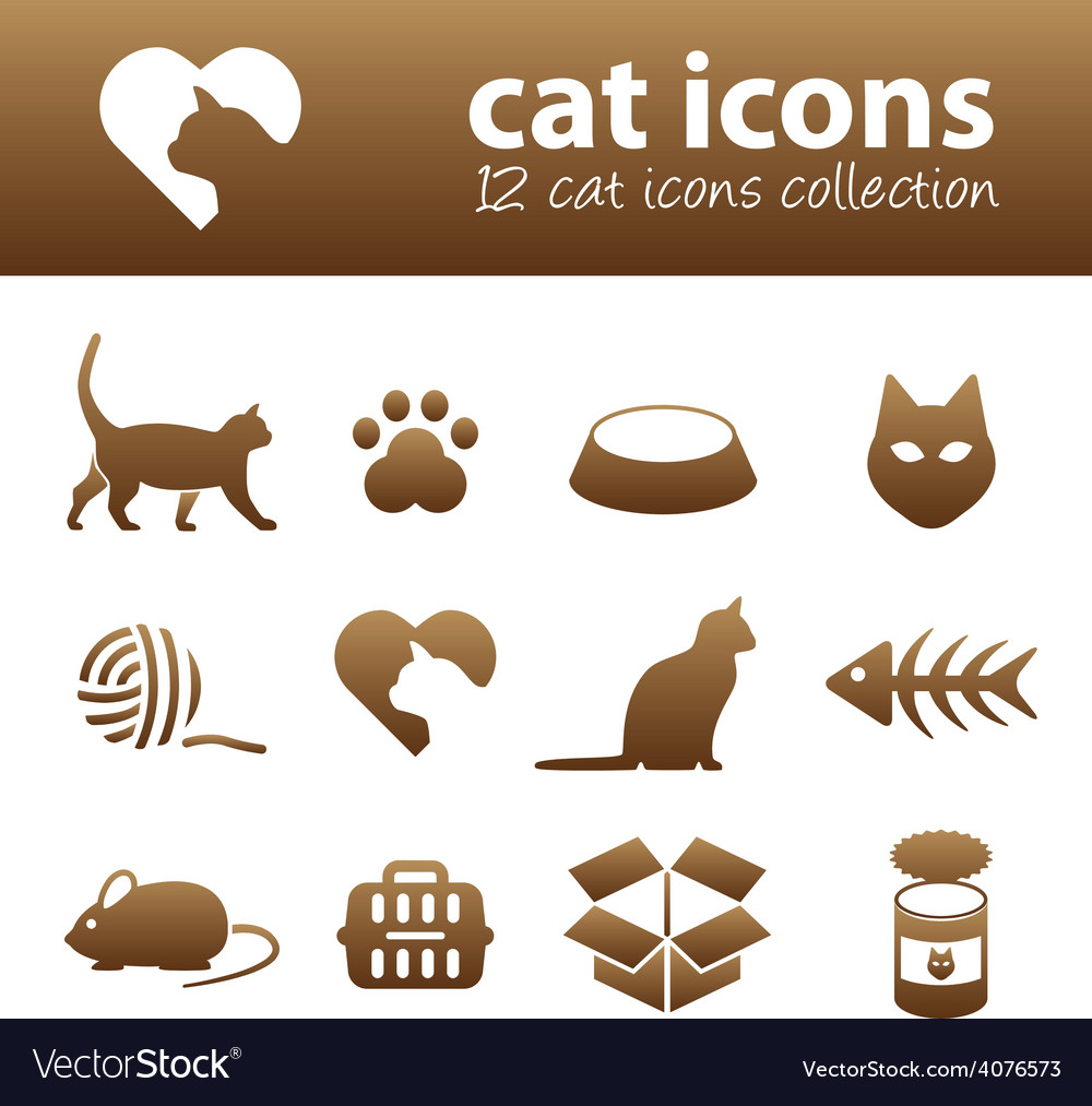 Cat icons vector | Price: 1 Credit (USD $1)