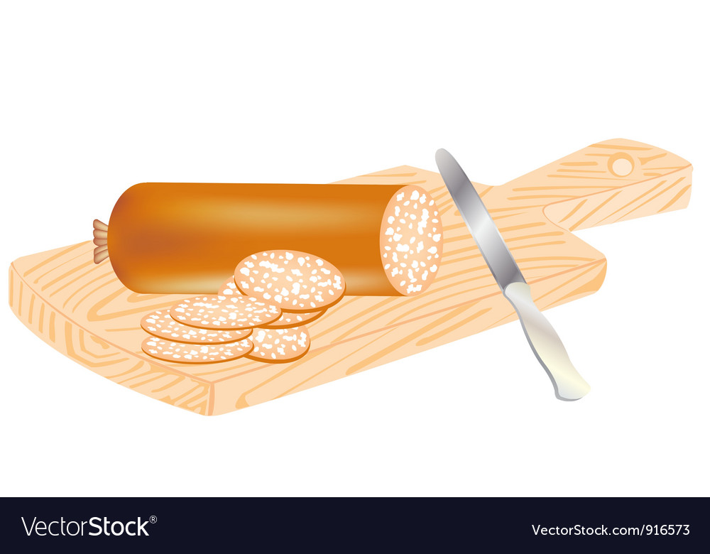 Cut sausage vector | Price: 3 Credit (USD $3)