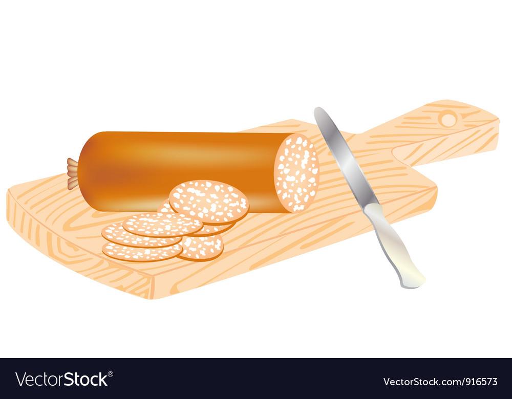 Cut sausage vector | Price: 3 Credit (USD $3)