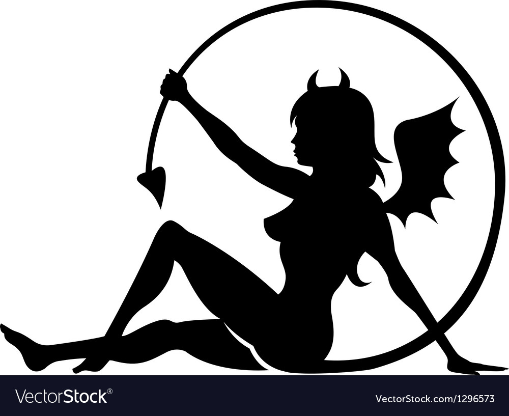 Devil girl vector | Price: 1 Credit (USD $1)