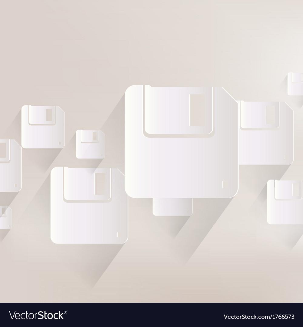 Floppy disk icon vector | Price: 1 Credit (USD $1)