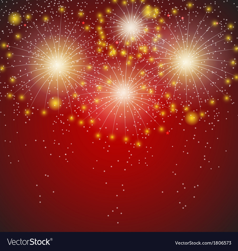 Glossy fireworks background vector | Price: 1 Credit (USD $1)