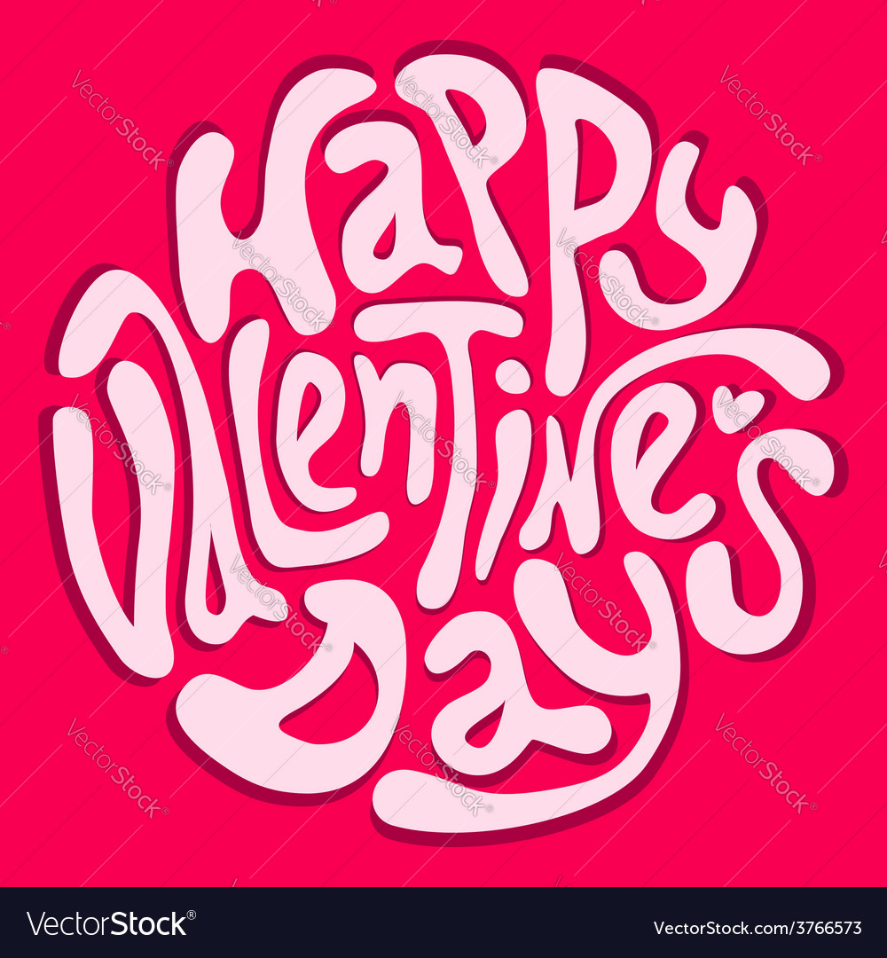 Happy valentines day inscription vector | Price: 1 Credit (USD $1)