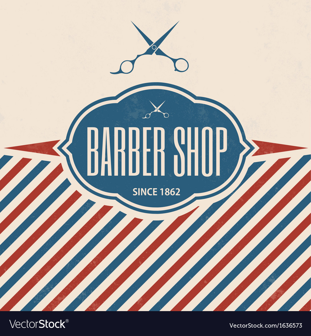 Retro barber shop vintage template vector | Price: 1 Credit (USD $1)
