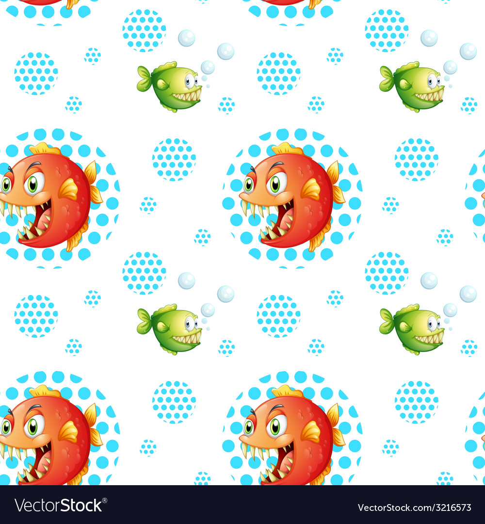 Seamless fish vector | Price: 1 Credit (USD $1)