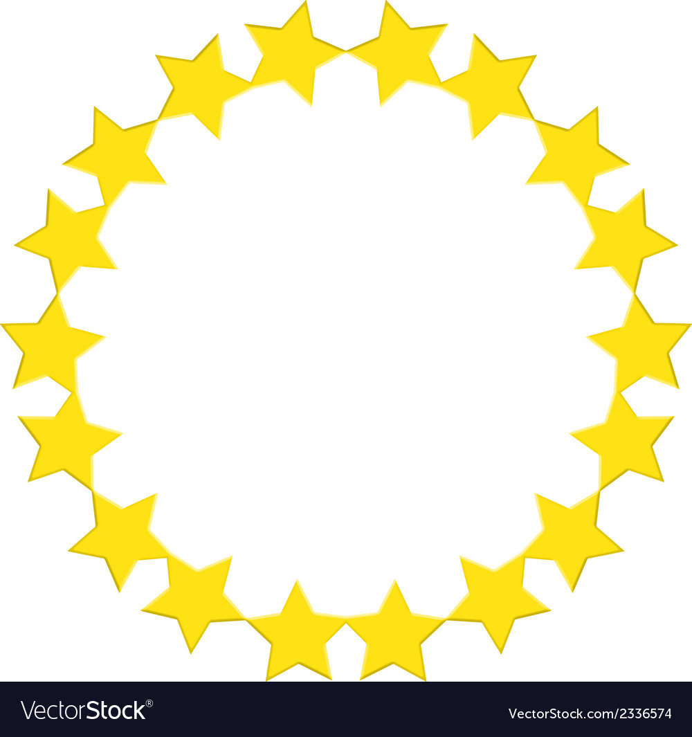A round star template vector | Price: 1 Credit (USD $1)