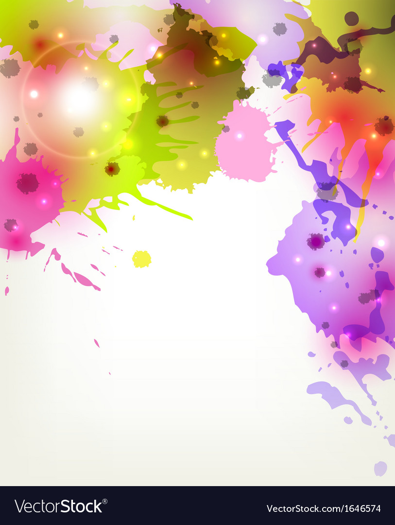 Abstract artistic background forming by blots vector | Price: 1 Credit (USD $1)