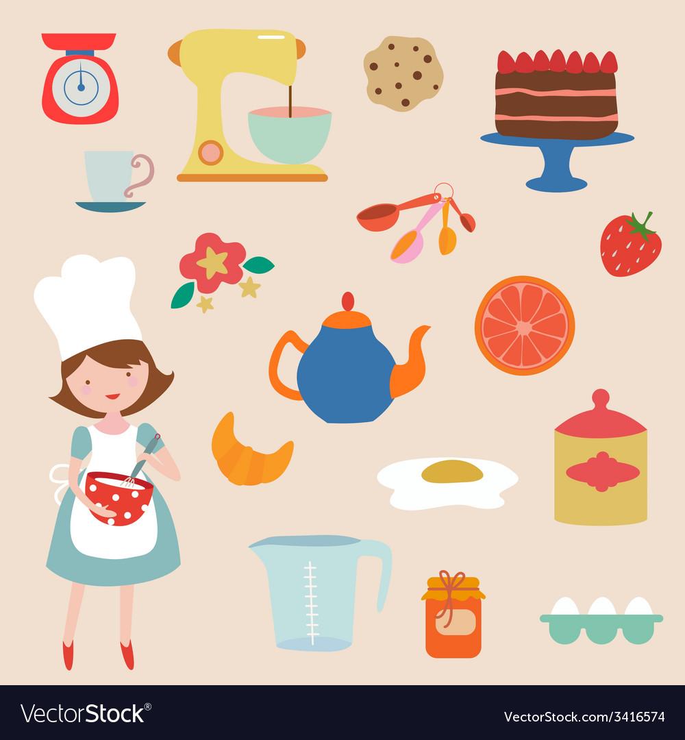Baking clip art vector | Price: 1 Credit (USD $1)