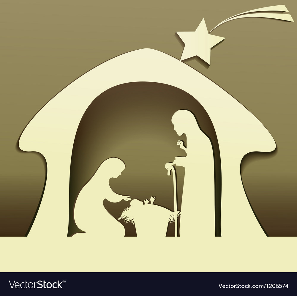 Christmas nativity scene vector | Price: 1 Credit (USD $1)