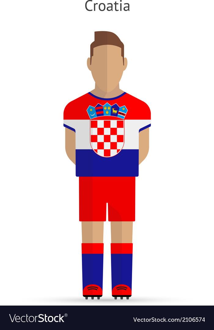 Croatia football player soccer uniform vector | Price: 1 Credit (USD $1)