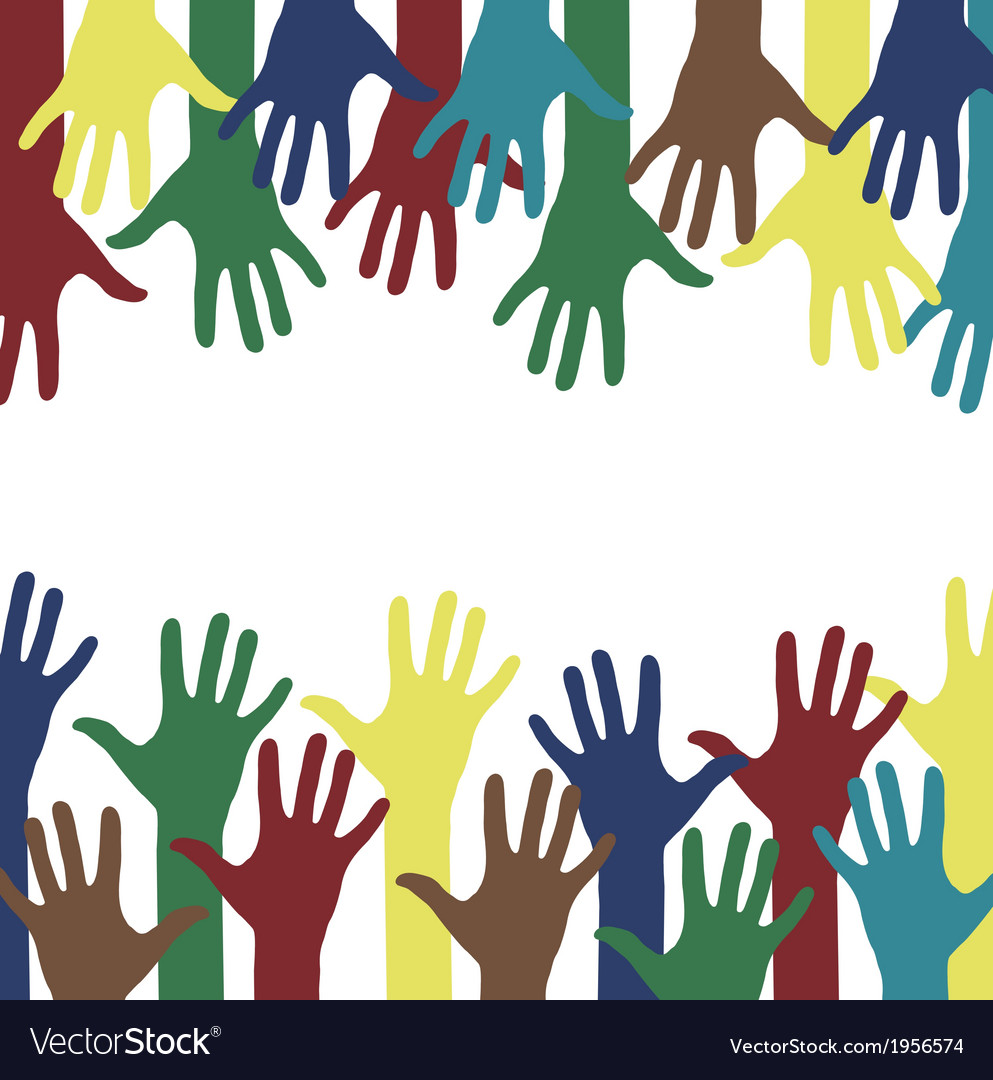 Hands background vector | Price: 1 Credit (USD $1)