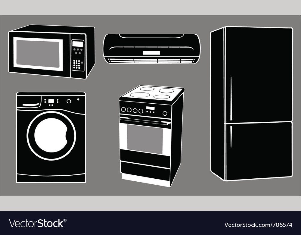 House appliances vector | Price: 1 Credit (USD $1)