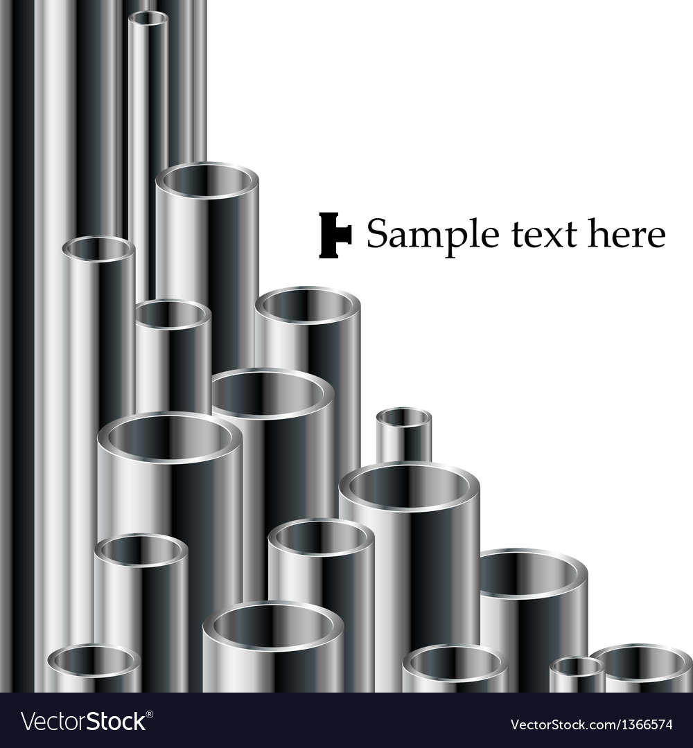 Industrial text background with pipe set vector | Price: 1 Credit (USD $1)