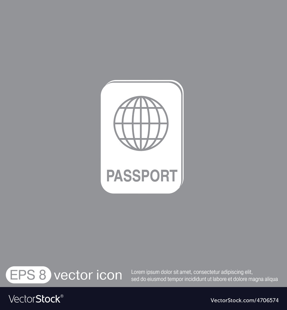 International passport symbol of travel icon vector | Price: 1 Credit (USD $1)
