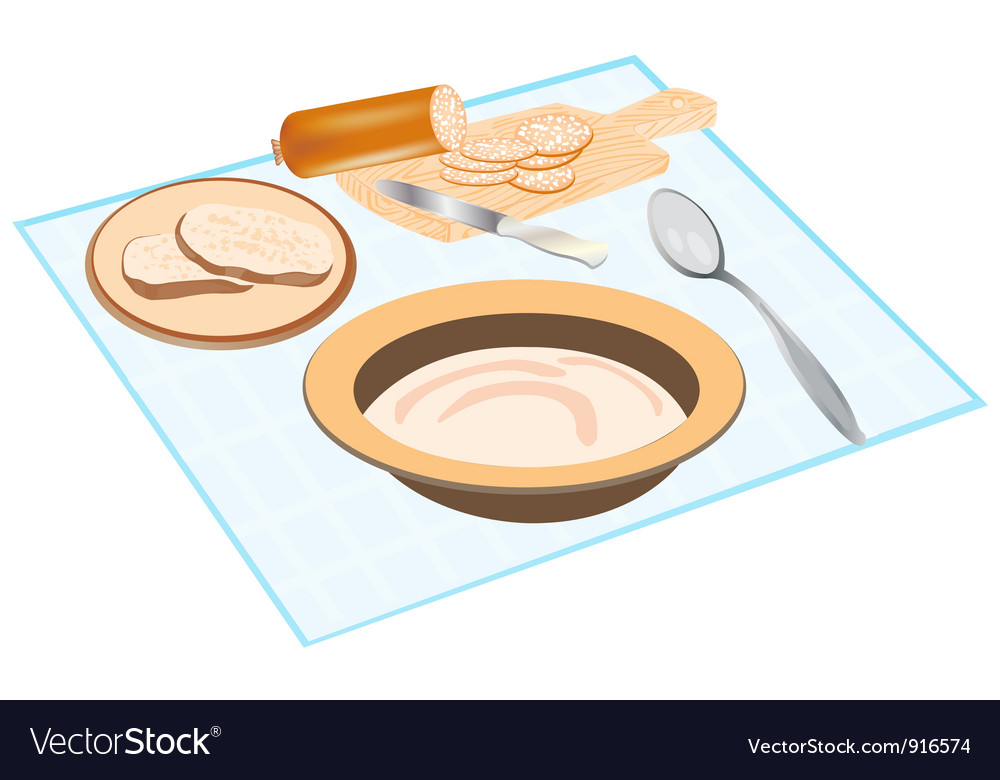 Meal on table vector | Price: 3 Credit (USD $3)
