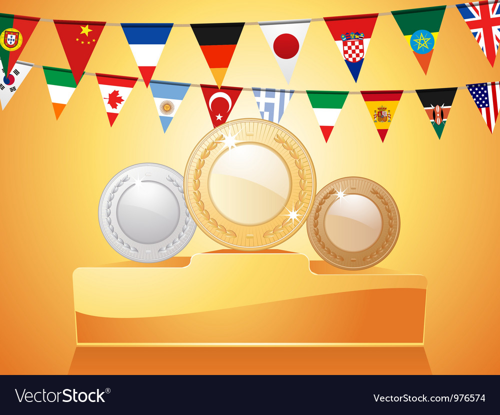 Medals podium vector | Price: 1 Credit (USD $1)