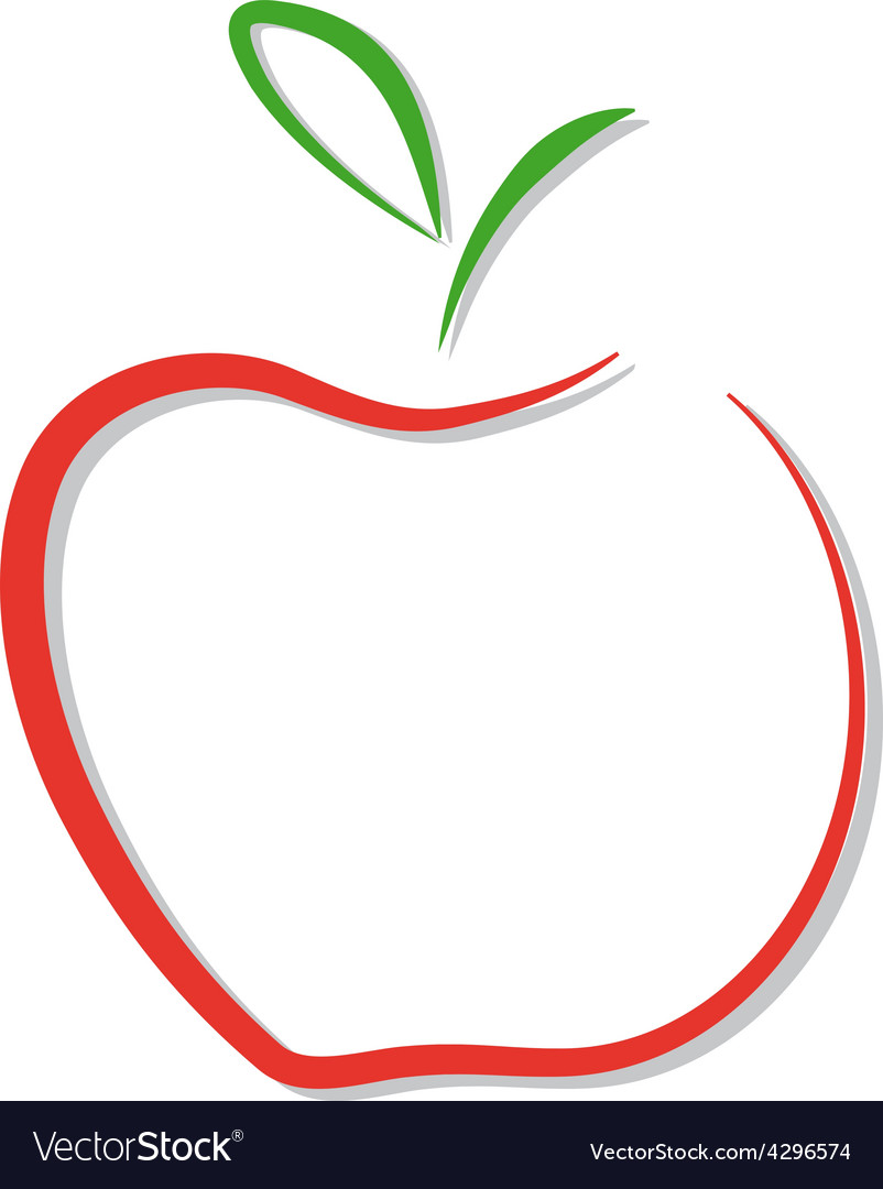 Red apple logo isolated vector | Price: 1 Credit (USD $1)