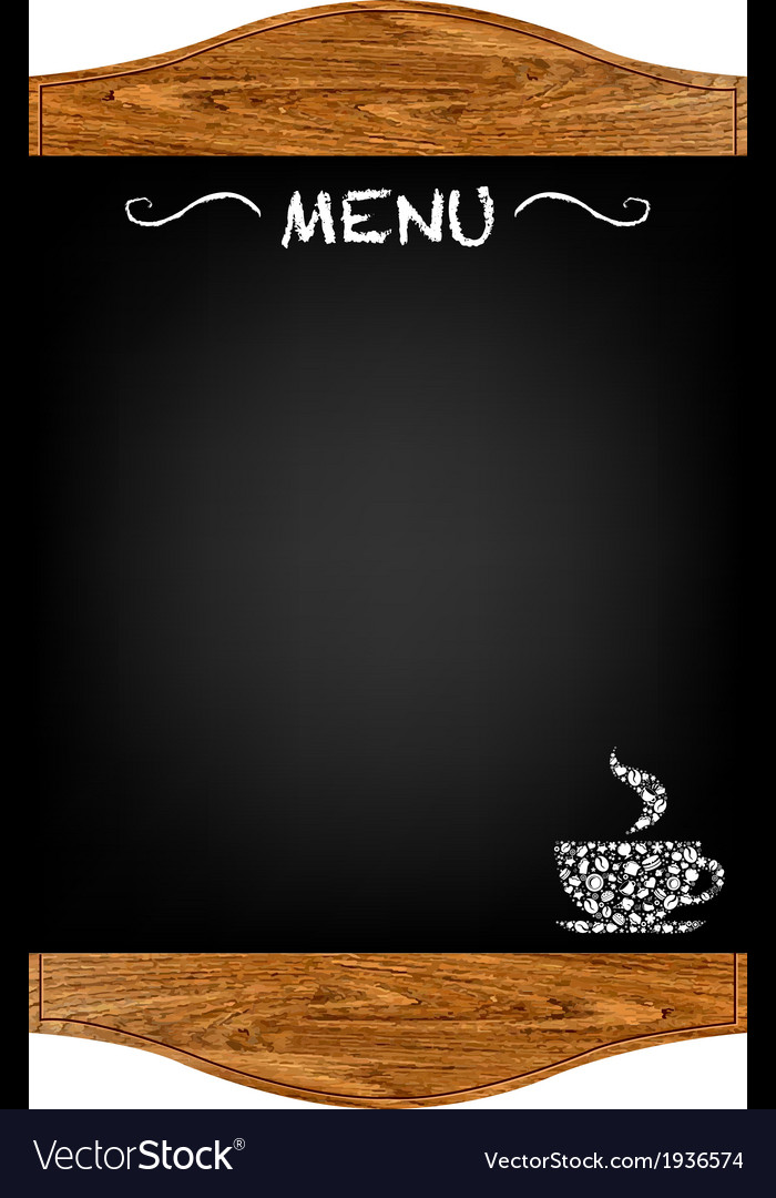 Restaurant menu board vector | Price: 1 Credit (USD $1)