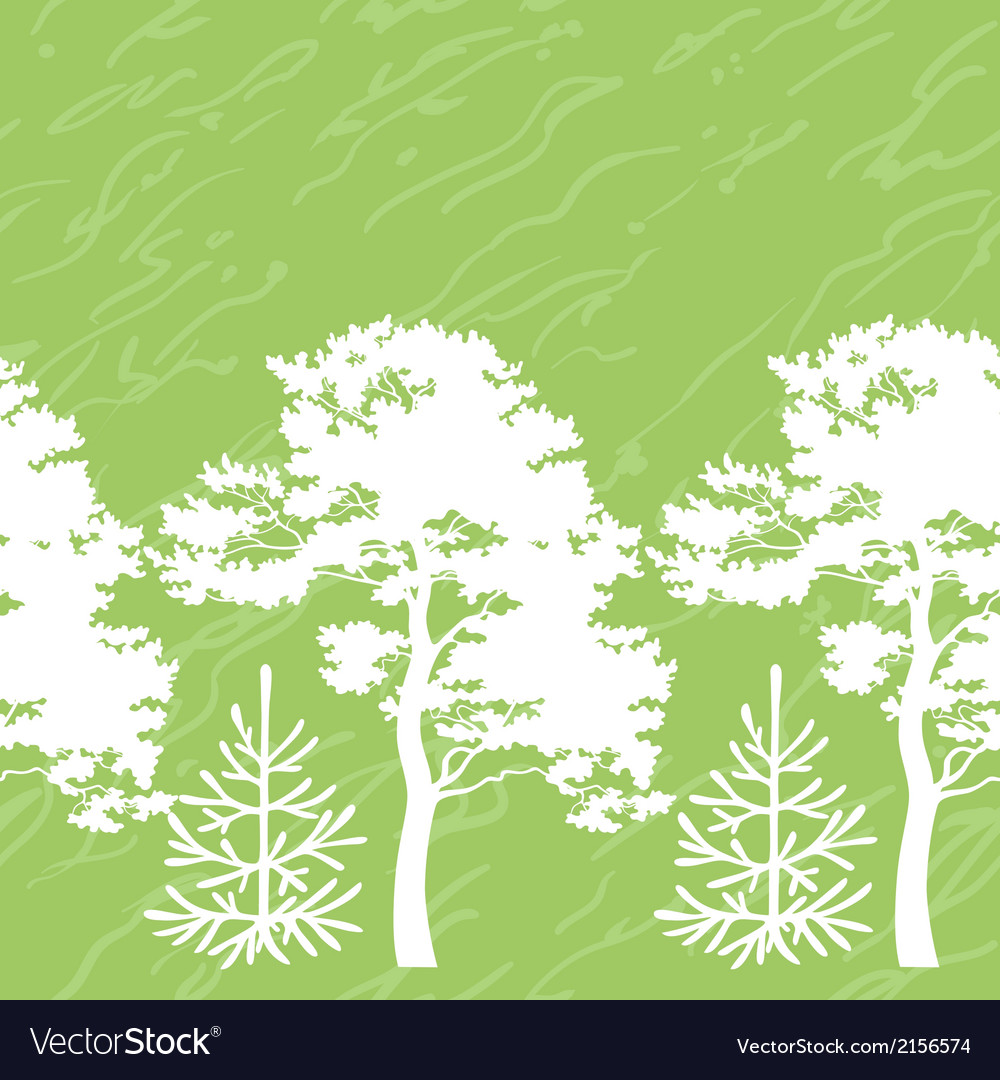 Seamless trees silhouettes and abstract pattern vector | Price: 1 Credit (USD $1)