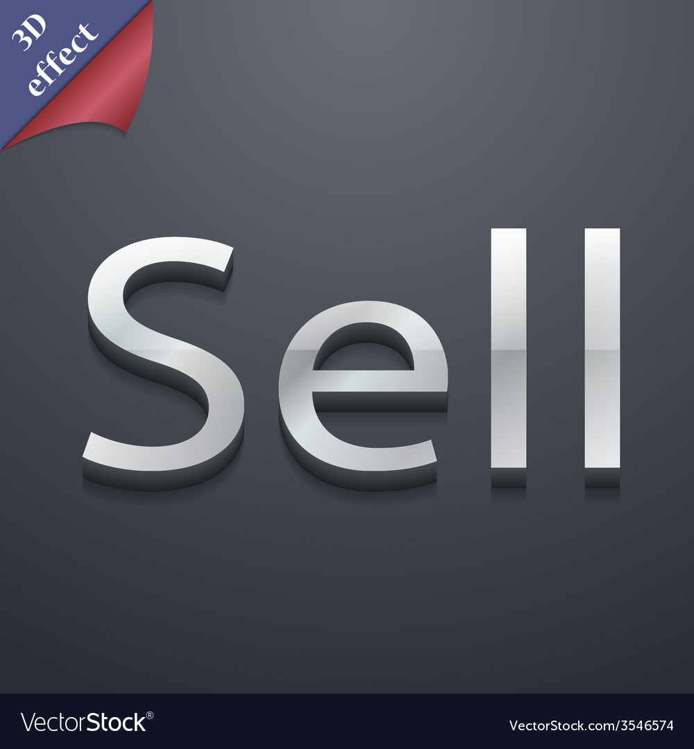 Sell icon symbol 3d style trendy modern design vector | Price: 1 Credit (USD $1)