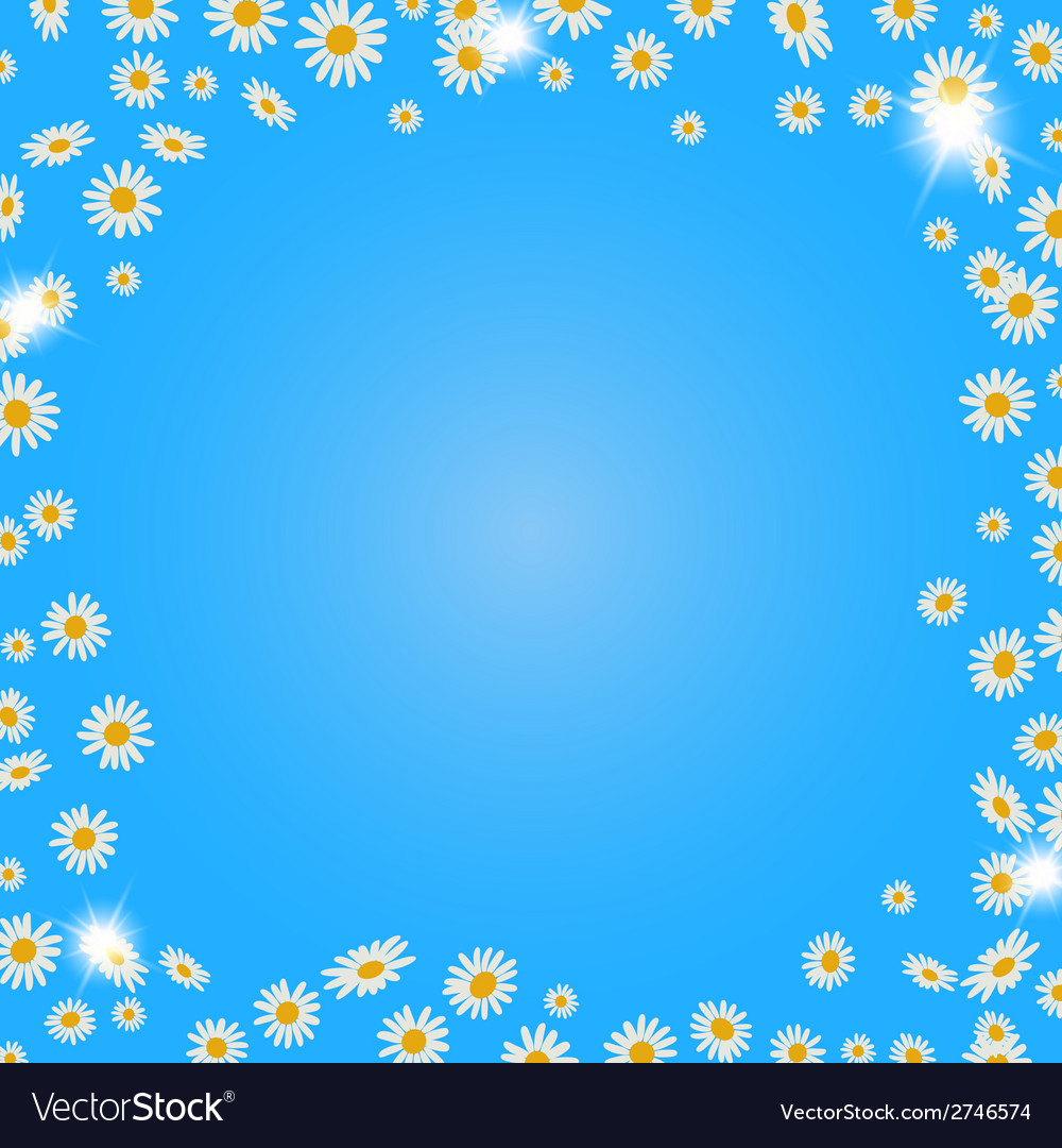 Summer daisies background vector | Price: 1 Credit (USD $1)