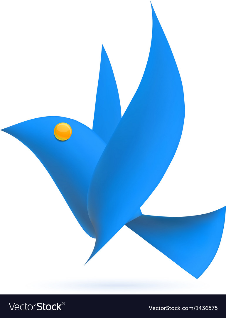 Blue bird ecology element vector | Price: 1 Credit (USD $1)