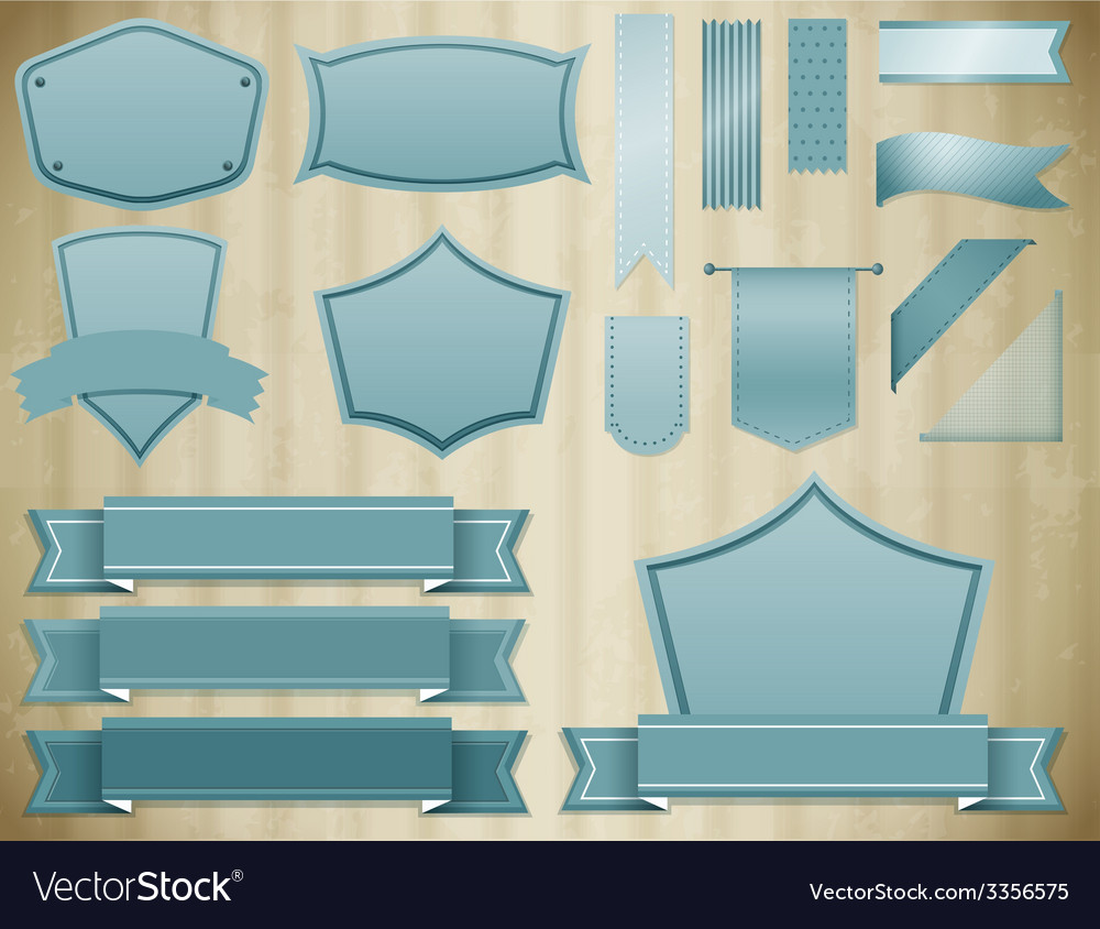 Blue labels vector | Price: 1 Credit (USD $1)