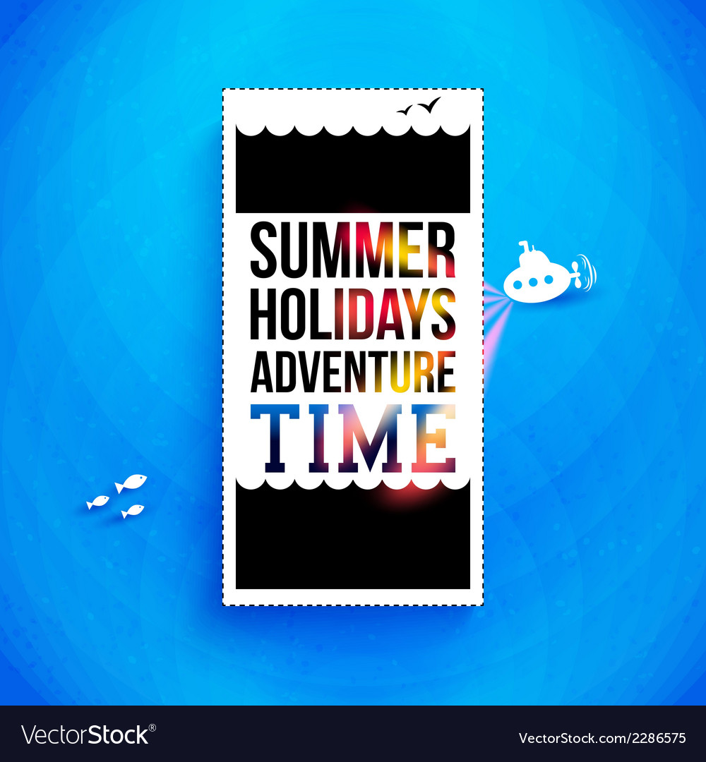 Bright summer holidays poster typography design vector | Price: 1 Credit (USD $1)
