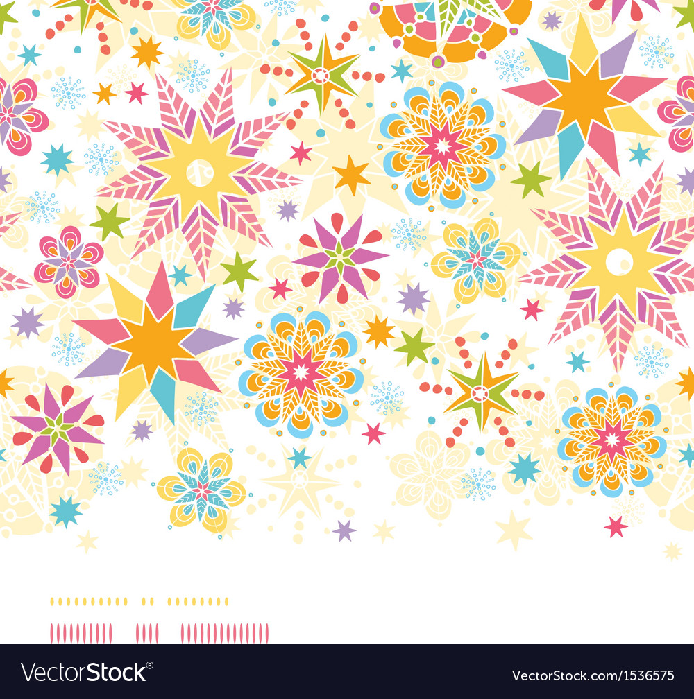 Colorful christmas stars horizontal seamless vector | Price: 1 Credit (USD $1)
