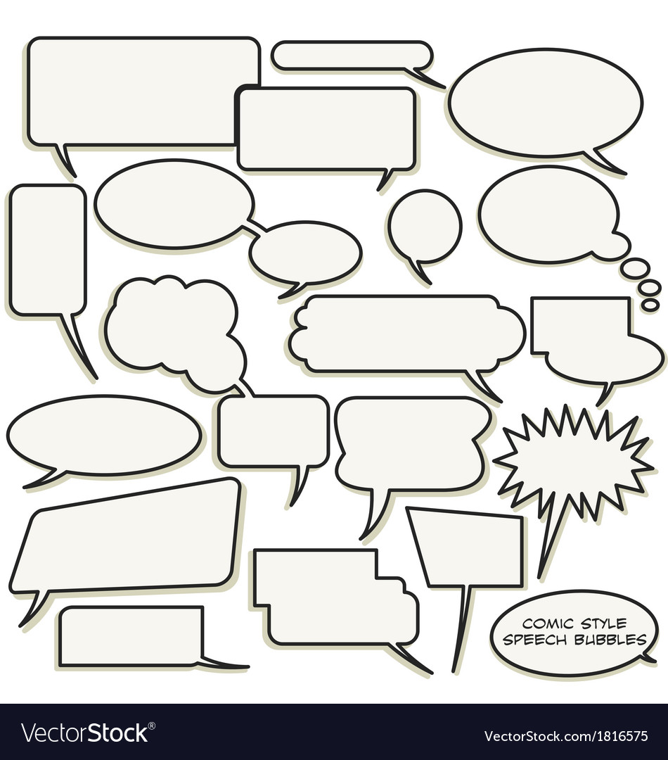 Comic style speech bubbles vector | Price: 1 Credit (USD $1)