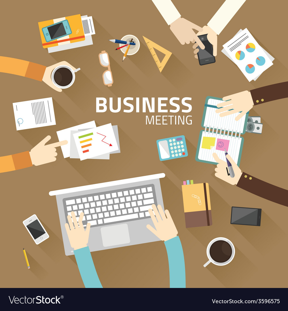 Concept business of teamwork analyzing project on vector | Price: 1 Credit (USD $1)