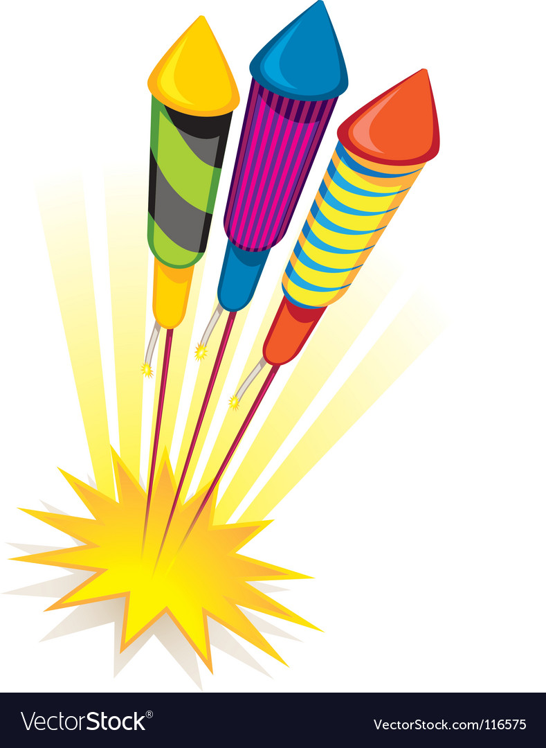 Firework rockets vector | Price: 1 Credit (USD $1)