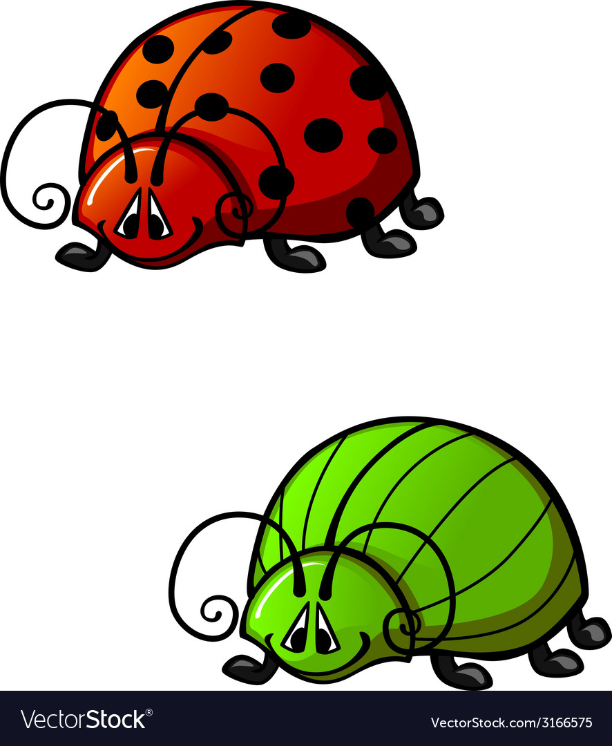 Funny beetles vector | Price: 1 Credit (USD $1)