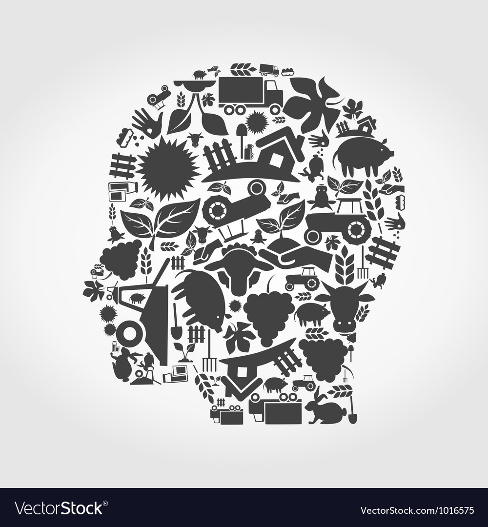 Head agriculture vector | Price: 1 Credit (USD $1)